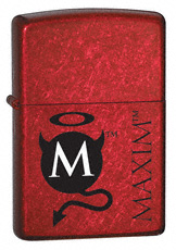 Zippo lighter - Maxim Magazine - Black Devl Cnady Apple Red